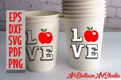 Teacher Svg Teach Love Svg School Svg Love School SVG Love S Product Image 11