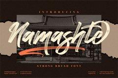 Namashte - Strong Brush Font Product Image 1