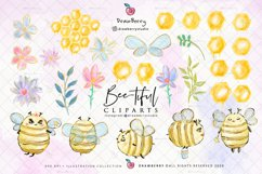 Honey Bumble Bee Glam Clipart PNG   DrawBerry CP007 Product Image 3
