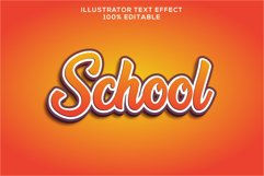 school text effect editable vector Product Image 1