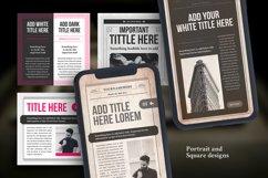 Newspaper Social Media Templates Product Image 3