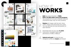 Interior Designer Instagram Posts Template | CANVA Product Image 5