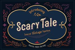 Scarytale - vintage multi-layered font Product Image 1