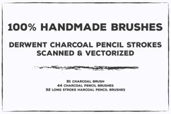 Pencil Charcoal Illustrator Brushes Product Image 4