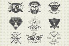 Cricket Logos Badges & Design Elements. SVG Cut Files Bundle Product Image 1