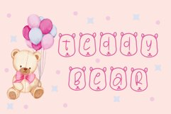 teddy bear font Product Image 1