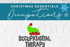 Christmas Occupational Therapy svg, Elf Squad hat & shoes OT Product Image 5