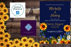 Sunflower and Blue Wedding Invitation Product Image 4