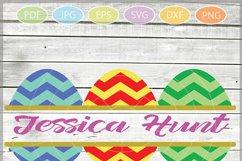 Easter Eggs monogram SVG - Easter bundle mini SVG Product Image 2