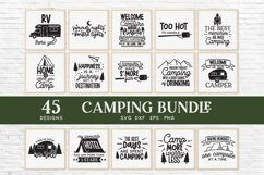 Camping svg bundle - outdoor adventure svg png eps dxf Product Image 2