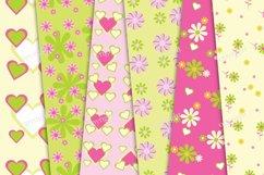 Paper pink flowers decoration digital wallpaper Product Image 3