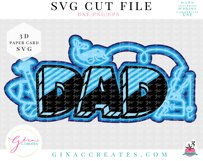 3D Dad Layered SVG Cut File Product Image 3