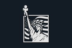 American mascot logo liberty vector illustration Product Image 1