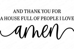 And Thank You For A House Full Of People I Love Amen - SVG Product Image 2