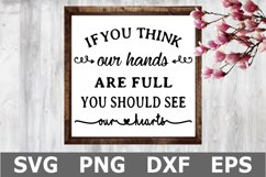 Hands are Full - A Family SVG Cut File Product Image 1