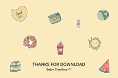 Aesthetic Tumblr Printable Stickers Sheet Product Image 2