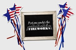Meet Me Under The Fireworks Cut File - SVG & PNG Product Image 2