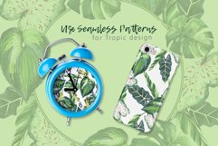 Tropics leaves JPG watercolor set Product Image 2