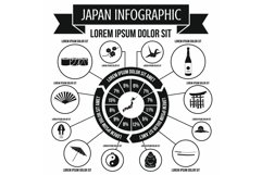 Japan infographic elements, simple style Product Image 1