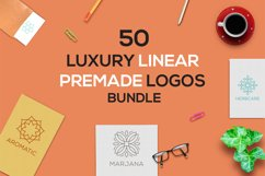 50 Luxury Linear Premade Logo Pack Product Image 1