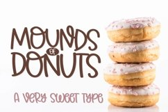 Mounds of Donuts - A Very Sweet Type with Ligatures! Product Image 1