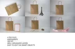 Craft Paper Shopping Bag Mockups. 7 PSD files, smart objects Product Image 3
