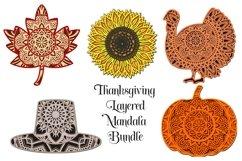 Thanksgiving Mandala SVG Bundle - 3D Layered Mandalas Product Image 1