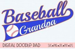 Baseball Grandpa SVG | Silhouette and Cricut Cut File Product Image 1