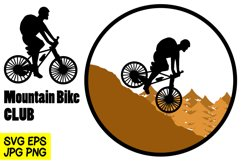 Mountain Bike - SVG/EPS/JPG/PNG Hand Drawing Product Image 1