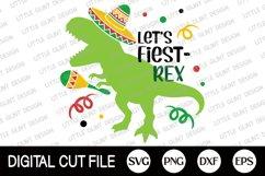 Cinco de Mayo Svg, Mexican, Dinosaur kids shirts Svg, Trex Product Image 3