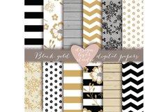 Rustic stripes gold black digital paper Product Image 1