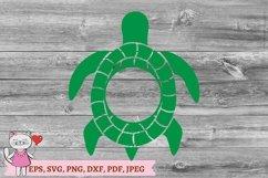 Sea Turtle Monogram SVG Product Image 3