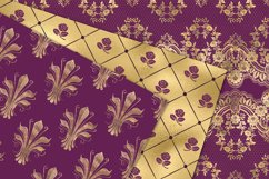 Victorian Purple and Gold Digital Paper Product Image 3