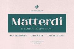 Matterdi   Hi-fashion ligature font Product Image 1