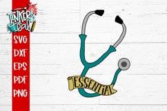 Essential Worker Doctor Nurse Stethoscope SVG Product Image 2