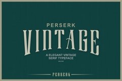 Perserk A Vintage Serif typeface Product Image 2