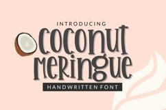 Coconut Meringue- Handwritten Font for Crafters TTF & OTF Product Image 1