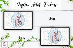 Digital Habit Trackers Y4 Yoga Series for Planner PRINTABLE Product Image 2