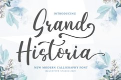 Grand Historia - A Beauty Script Calligraphy Fonts Product Image 1
