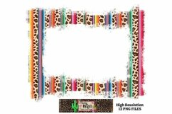 Leopard Grunge Background Frames for Dye Sublimation PNG Product Image 5