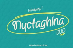 Nyctaghina - A Quirky Handwritten Font Product Image 1