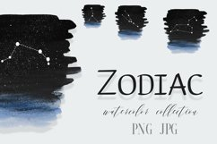 Zodiac sign clipart PNG,Personalised Minimalistic Zodiac, Product Image 1