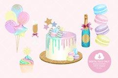 Unicorn Birthday Party Clip Art Product Image 4