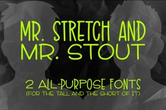 Mr. Stretch & Mr. Stout Font Duo Product Image 6