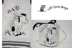 Toilet Paper Bad Donkey Embroidery Design Product Image 2