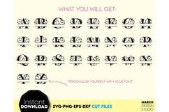 Family Monogram SVG, Letter Monogram SVG, A-Z Monogram SVG Product Image 2