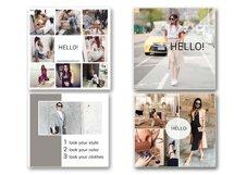 Fashion Social Media Pack, Social Media Bundle, 20 Square Social Media Templates, Instagram Template Pack, Social Media Graphics Pack Product Image 4