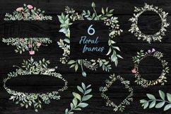 Romantic garden. Watercolor cliparts Product Image 4