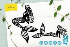 Mermaid svg, Mermaid clipart, Mermaid silhouette cut file Product Image 2