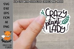 Crazy Plant Lady Plant Lover SVG Product Image 1